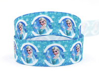 "Free shipping 7/8"" (22mm) Frozen Elsa Paty Ribbon Grosgrain printed ribbon Gift packing ribbon 50 yards/roll XZD-1680"