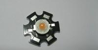 Freeshipping! 10PCS 3W Orange High Power LED Bead Emitter DC2.0-3.0V 700mA 90-100LM 600-610NM with 20mm Star Platine Heatsink