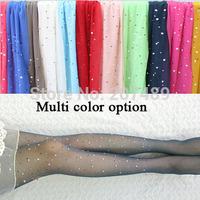 thin 15D new color translucent Rhinestone shiny thin beautiful  long  velvet socks  pantyhose whcn+