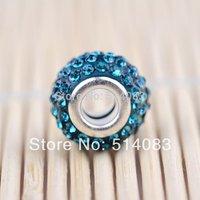 Beads Big Hole Charm Beads Rhinestone Crystal Beads For bracelet 20pcs/Lot