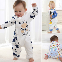Free Shipping Children Pajamas Newborn Branded Baby Rompers Infant Cotton Long Sleeve Jumpsuits Boys Girls Spring Autumn Wear