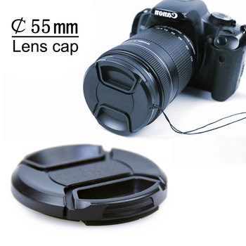 New Lens Cap 55MM Front Cover with Rope/Cord for dslr Camera Canon Casio Minolta Pentax Sigma Nikon Lenses