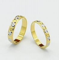 New Arrival Fashion 24k Gold Plated Mens Jewelry Sets Yellow Gold Golden Ring Fashion Rings Free Shipping YHDS021