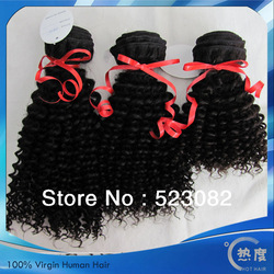 Fantastic Free shipping 3 pcs/lot SELECTED Rare top quality virgin Afro mongolian kinky curly hair(China (Mainland))