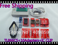Free Shipping Hot V.5.91 TL866CS High speed true Willem USB BIOS Universal Programmer+10Adapters Support 13143 chips