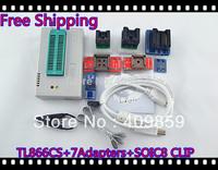 Free Ship NEW SOIC8 CLIP 100% original Hot Sale V6.0 TL866CS Willem USB BIOS MiniPro Universal Programmer+8Adapters+13143 chips