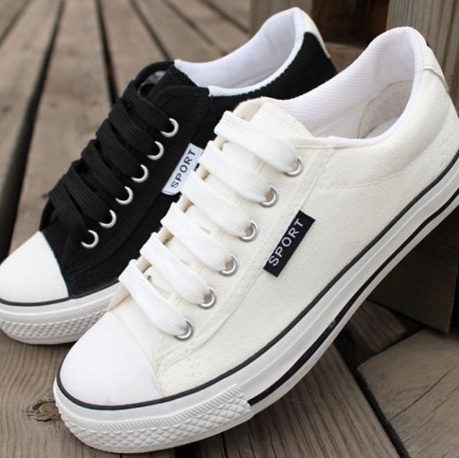 Black Fashion Sneakers For Women Canvas Shoes For Women Men