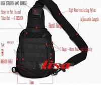 Free shipping  Military Fashion Sports Shoulder Bag  Sling Bag Tactical bag black