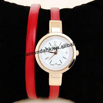 100pcs/lot 2015 Fashion Women Watch Rhinestone Quartz Girl Thin Long Bracelet Wristwatch Christmas Gift Hour Casual Watches