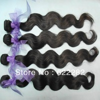 HOT! 5A  Machine weave body wave Brazilian virgin hair 400grams/lot(4packs) Mixed lengths  free shipping