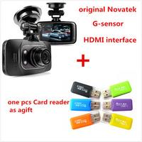 1Pcs Free Gift+100% Original GS8000L Novatek 2.7 inch 140 degree 25fps Car DVR 1920*1080P Camera Voice Recorder GS8000