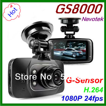 Dropship! Car Camera DVR recorder GS8000L 1920*1080P 140 degree Angle 2.7inch LCD G-Sensor, NOVATEK chipset GS8000