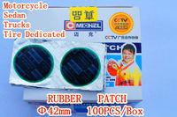 Car styling (100pcs / diameter 42mm). Car Trucks Motorcycle. Tire Repair Kit. Rubber Patch Free shipping