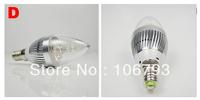 15pcs/lot E14 base fitting Dimmable 3x2w 6w AC85-265V warm /cold white LED candle bulb corn light DHL Fedex
