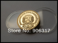 Wholesale 1000pcs/lot Free shipping High quality 1980Gold clad Replica Russian Souvenir coins