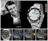 Casual Men Quartz LED Watch Mult-function Alarm Hardlex Glass Dive Watches WR Wristwatch Free Ship