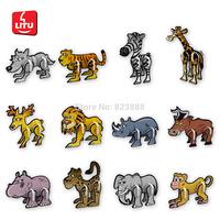 LITU 3D PUZZLE/JIGSAW PUZZLE/TOYS_animals_12 designs/lot(including lion tiger panther wolf elephant zebra etc)     style No.7038