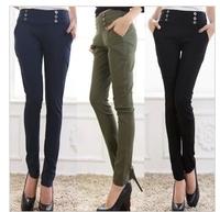 Free Shipping!  Autumn women's elastic waist pencil casual pants,Big  Size women plus size harem pants :XL 2XL 3XL 4XL