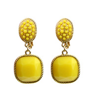 2014 hot sale fashion designer wholesale rhinestone colorful clip earrings