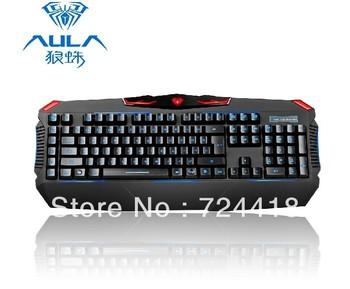 AULA-NEW Tarantula mechanical keyboard backlit light emitting Game wired usb keyboard  free shipping