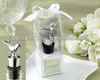 Wedding The Lovebirds Chrome Bottle Stopper Wedding Favor (Set of 12 Boxes)