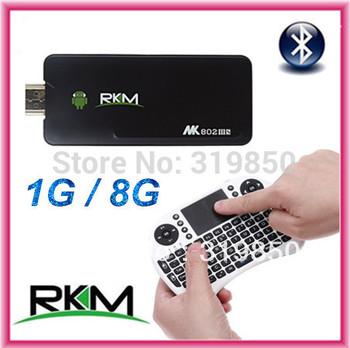 Rikomagic 5th MK802IIIS MK802 IIIS bluetooth Mini PC Android 4.2.2 TV Box Dual Core RAM 1GB ROM 8GB + Rii i8 Wireless Keyboard