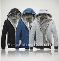 2014 Free shipping fashion autumn/winter plus velvet Hoodies cardigan jackets men's sport sweatshirt coats M~4XL Zipper outwear
