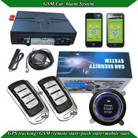 PKE car alarm system,passive keyless entry,lock or unlock automatically,RFID techology,remote start,push start,GPS tracking