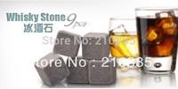 9pcs/set,,Whisky stones,whiskey stone  with velvet bag whiskey rock stone Great gift Freeshipping