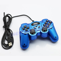 1PC PC wired USB joypad game pad JOYSTICK controller with double shock support  WIin8/ Win7/XP/Vista  FREE SHIPPING #DW002
