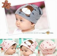 5pcs/lot free shipping baby hat Cartoon dog labeling head cap Boys & Girls Hats 17cm x 17cm For
