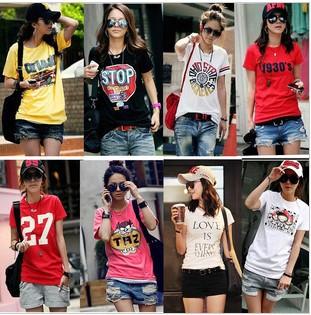 New 2014 Fashion T Shirt Butterfly Shirt Women Tops T-shirts MANY PATTERNS MIXED ORDER(China (Mainland))