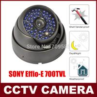 CCTV Camera 700TVL SONY Effio-E CCD 48IR CCTV COLOR DAY & NIGHT ARMOR WATERPROOF Vandal Proof  960H DOME Security CAMERA SYSTEM