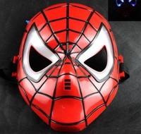 Halloween mask LED lights with light-emitting Spider-Man cartoon mask performances mask 1pcs
