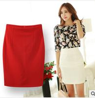 Midi Skirt Women 2015 Spring Fashion Vintage Short Pencil Skirt  Elegant Lady's Tight Mini High Waist OL Career Skirt Saias W16