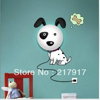 FREE SHIPPING Cute Dog Wall Sticker Wall Lamp DIY Wall Sticker Lamp 3D Wall Sticker Night Light 4 Pattern AU/EU/UK/US Plug