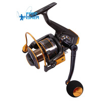 New High Power Gear Spinning Spool Fishing Fish Reel Aluminum GA3000