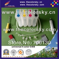 universal 4 color CISS ink tank system with accessaries for Epson Brother Canon HP printers
