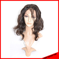 5A Top Quality Human Hair Front Lace Wigs 100% Unprocessed Virgin Brazilian Hair Body Wave Lace Wig For Women Natural Color #1B
