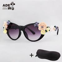 New Luxury Baroque Flower Sunglasses Women Fashion Brand Sun Glasses with multi colors Holiday&Beach oculos de sol