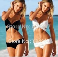 Free shipping!! 2013Hot Sale Swimwear Women Padded Boho Fringe Bandeau Top and Bottom Bikini Set New Swimsuit Lady Bathing suit