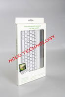 10PCS/LOT New 9.7inch Aluminum Alloy ultra thin Bluetooth wireless keyboard for Apple ipad 2/3/4 with Retailbox and Free shippin