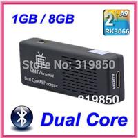 MK808B Cortex A9 Dual-Core Anroid 4.2.2 Bluetooth Mini PC Android TV box RK3066 1.6 GHz RAM 1GB ROM 8GB HDMI 1080P Wifi