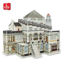 LITU 3D PUZZLE_DIY Revolving Pavilion from Escher