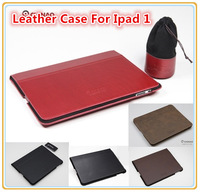 High Quality Brand Leather Case For ipad1, Protective Sheel, Folding Folio Case, Bag,Cove,Wholesales, Free shipping, 1 pcs/lot