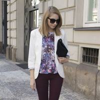2013 Euro-American Style Quality Outerwear Women's Candy Color Three Quarter Sleeve Notched Blazer Suit C339