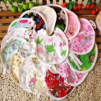 CL0074 Free Shipping Cartoon Baby Bib / Newborn Baby Bibs Waterproof Bibs & Burp Cloths, Fit 0-6 Months Baby, 10pcs Mixed Colors