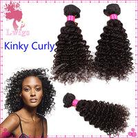 2pcs per set free shipping kinky curly virgin hair,peruvian curly hair,human hair curly weave