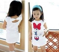 5 pcs/lot 2014 Children Kids Clothing Girls Minnie Dresses Summer Wear Sleeveless Best Selling AA5164 GQ-232