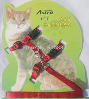 drop shipping  3 colors Pet Cat Harness Cat Leash Cat I-shaped High Quality Harness length1.2m*width1cm